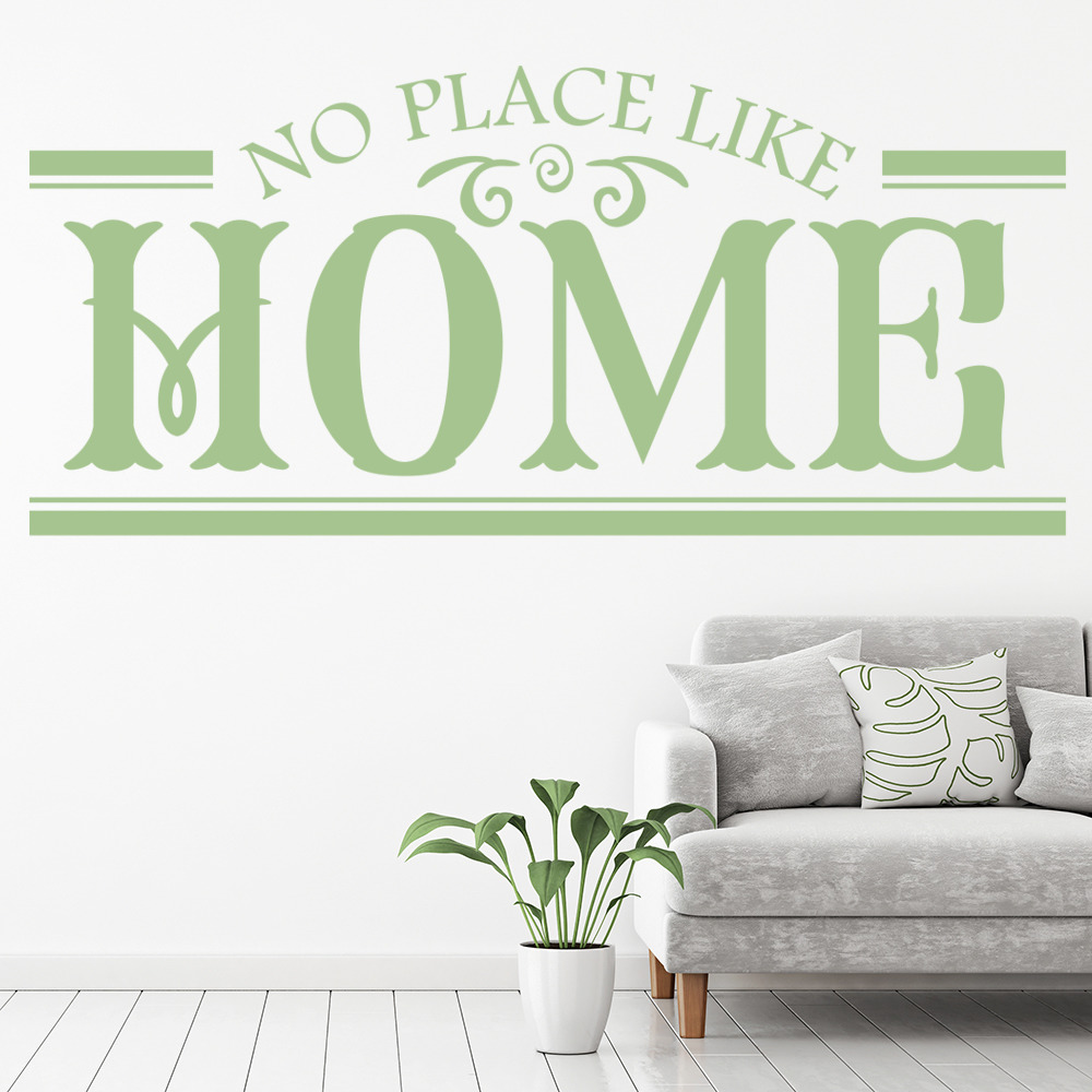 No Place Like Home Wall Sticker Home Wall Art