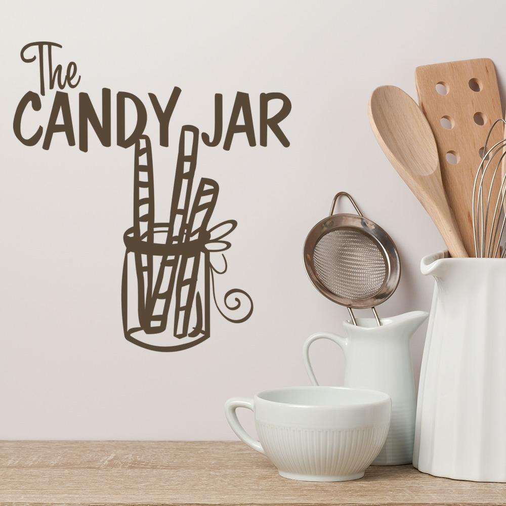 The Candy Jar Wall Sticker Kitchen Wall Art