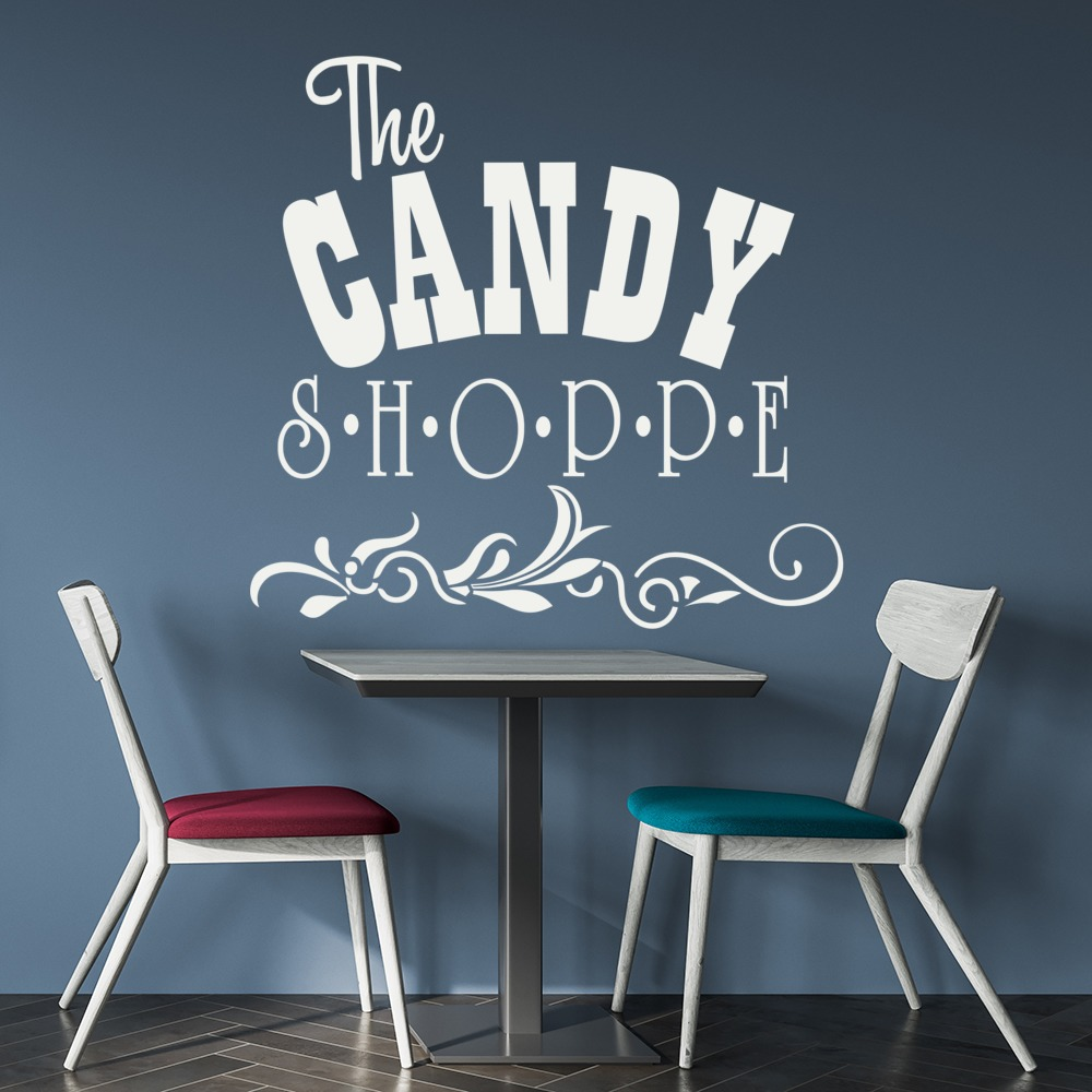The Candy Shoppe Wall Sticker Badge Wall Art