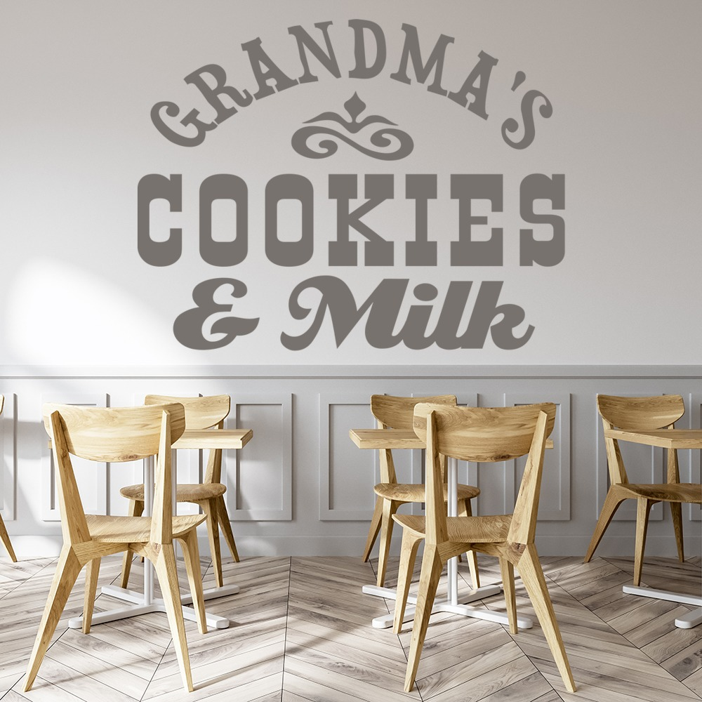 rooms to go baby s cookies and milk wall sticker text wall 16993