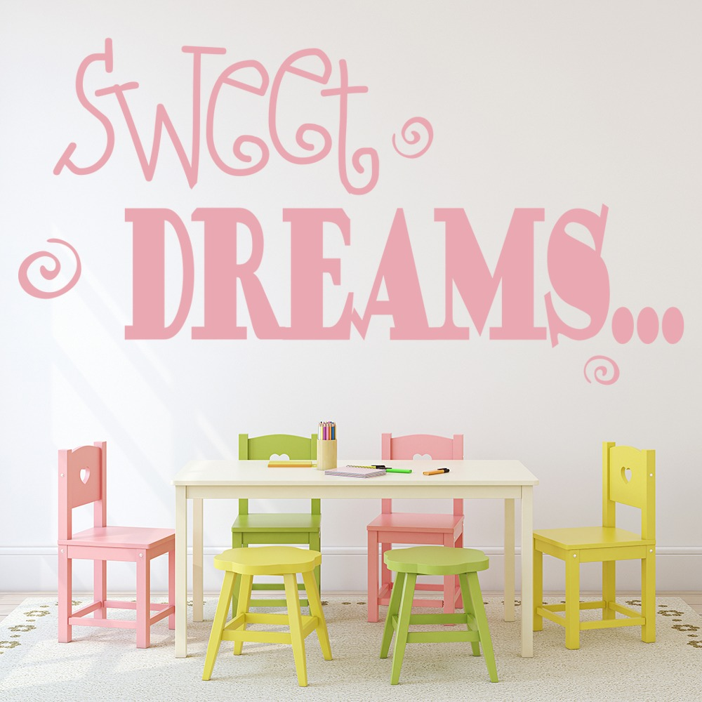 sweet dreams wall sticker children s wall art sweet dreams 3 wall sticker