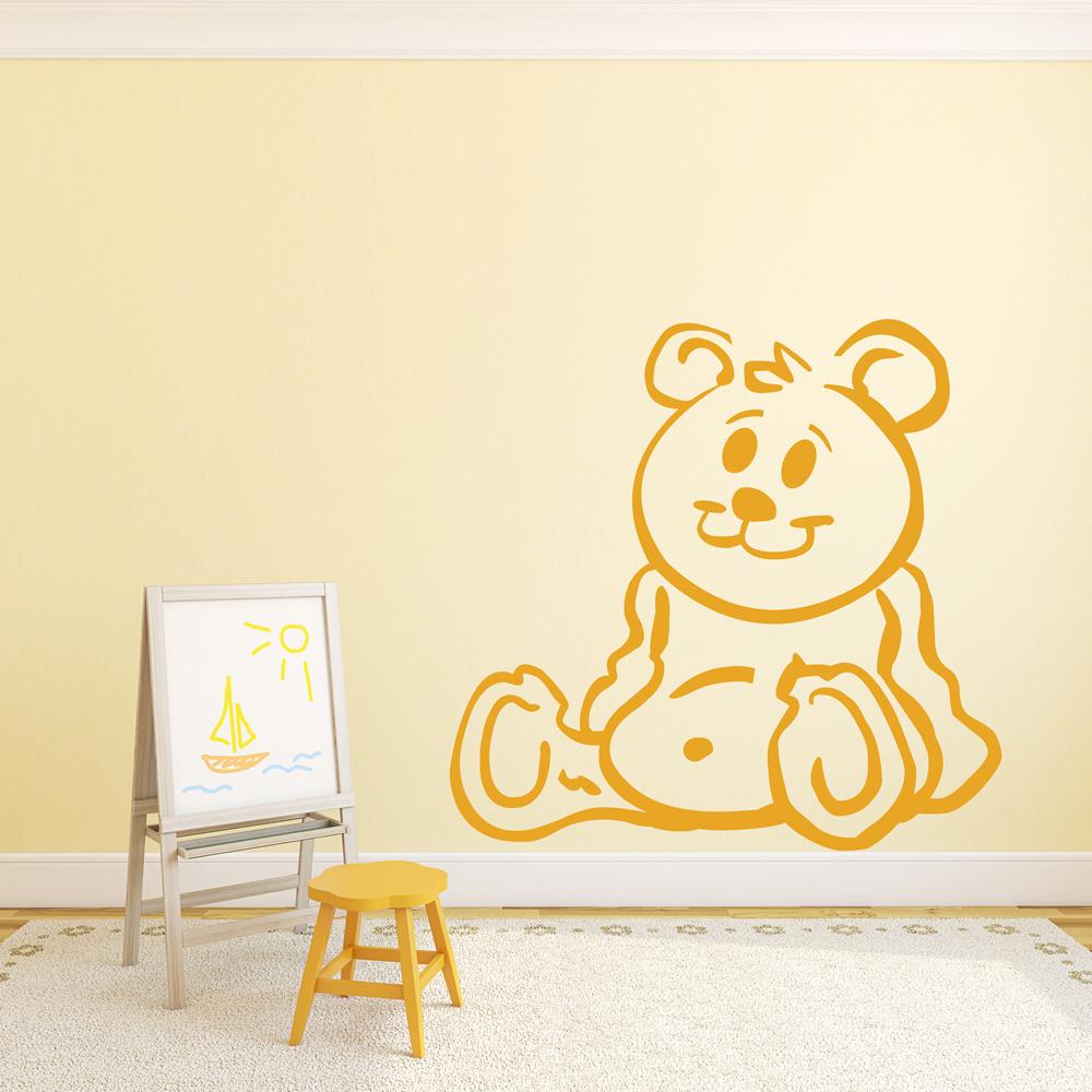 cartoon teddy bear wall sticker children s bedroom wall art children s bedroom wall sticker we made a wish wa257x
