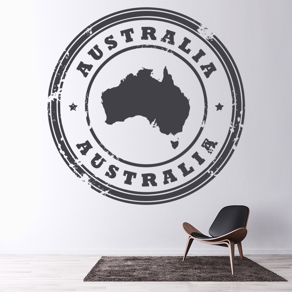 australia wall sticker badge wall art