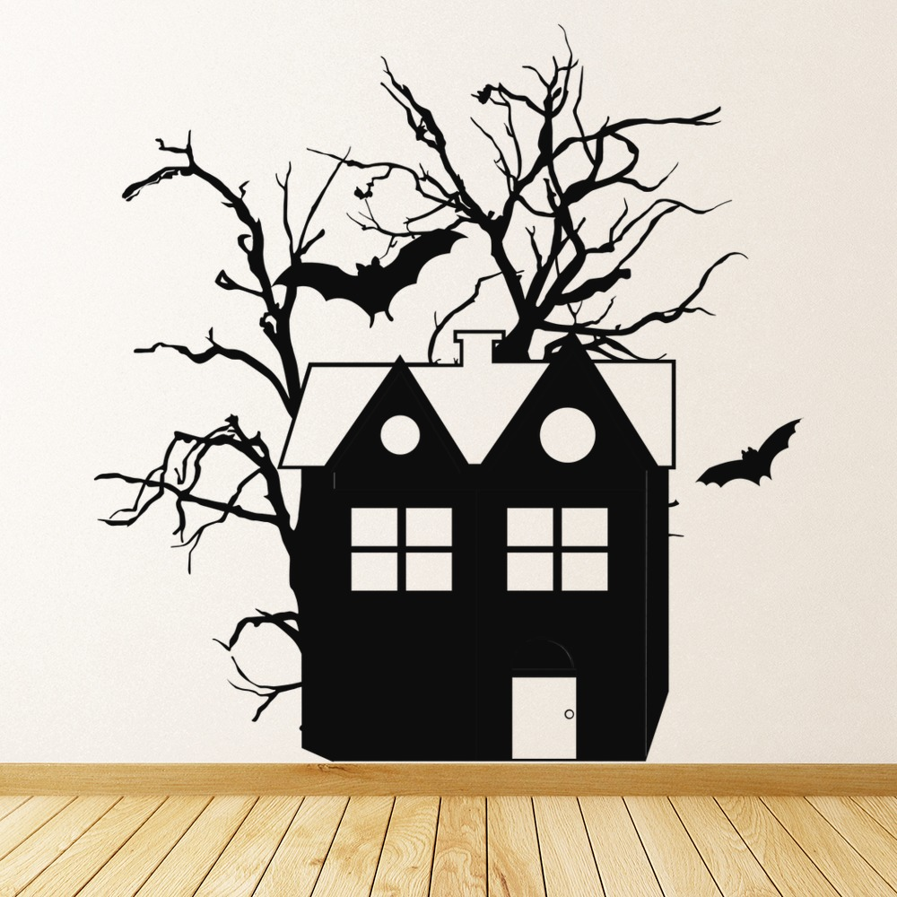 Haunted House Wall Stickers Halloween Wall Art