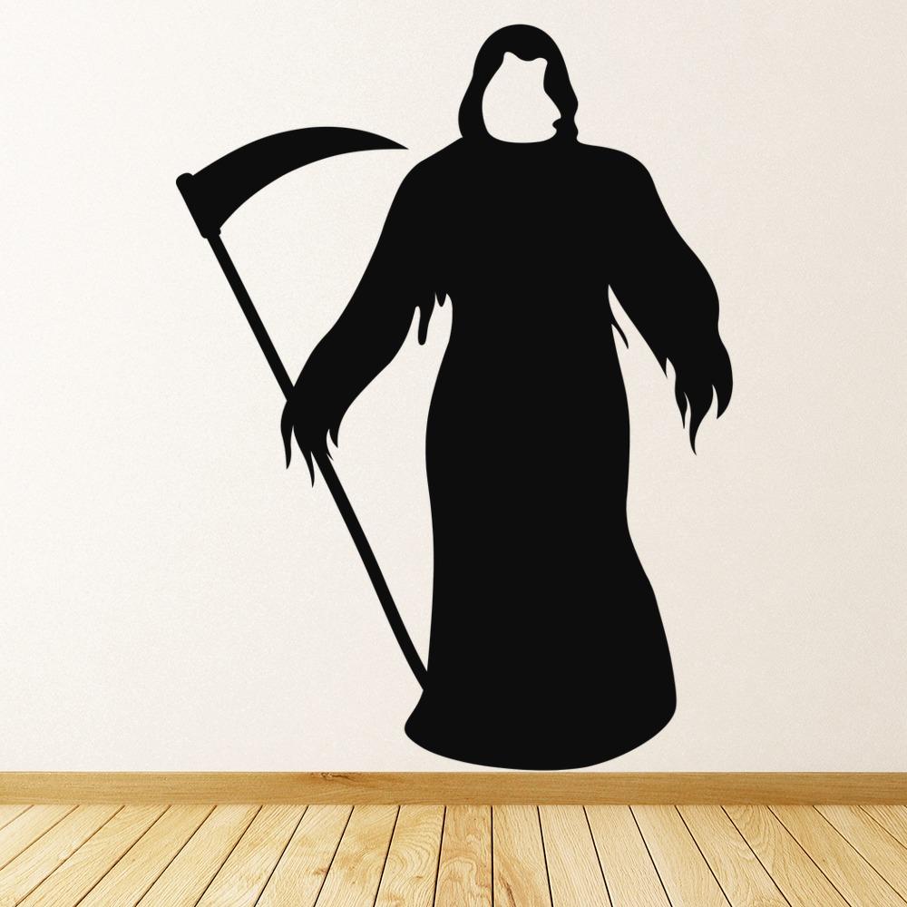 The Grim Reaper Wall Sticker Halloween Wall Art