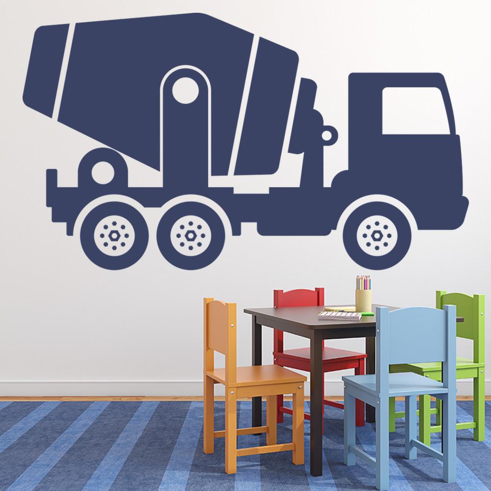mixer truck wall sticker vehicle wall art