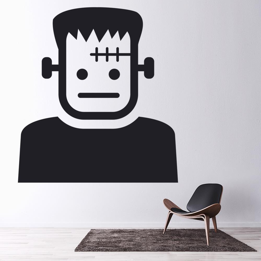 Cartoon Frankenstein Wall Sticker Halloween Wall Art