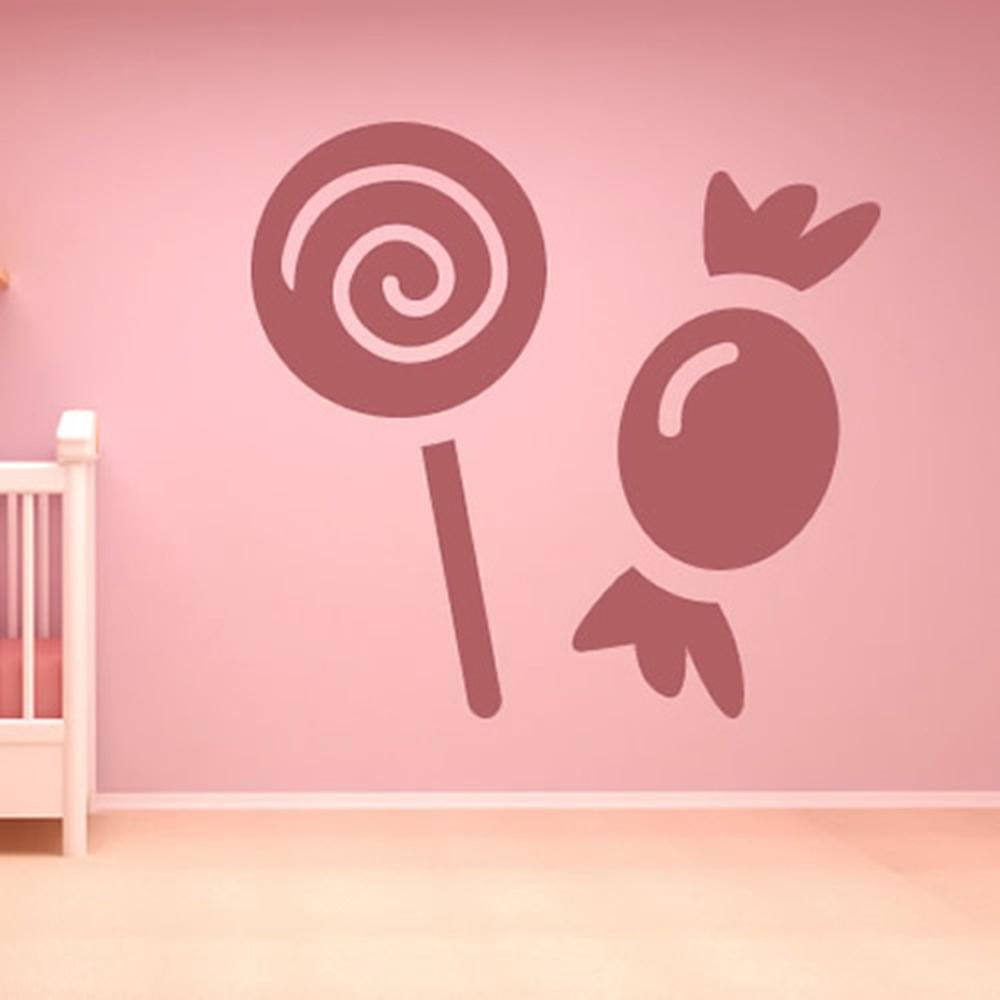 Cartoon Lollipop And Sweets Wall Sticker Cartoon Wall Art