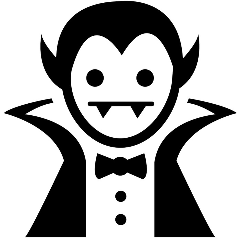 Cartoon Vampire Wall Sticker Halloween Wall Art
