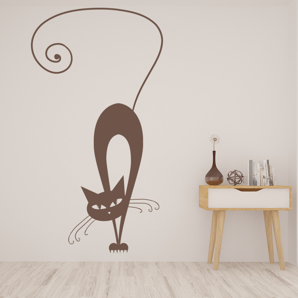 siamese cat house cats wall sticker