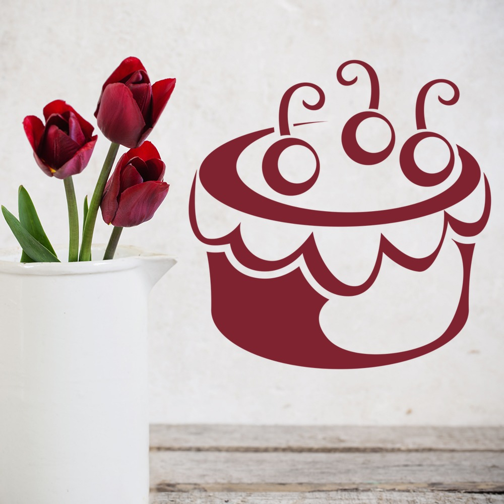 Cherry Cake Wall Sticker Food Wall Art