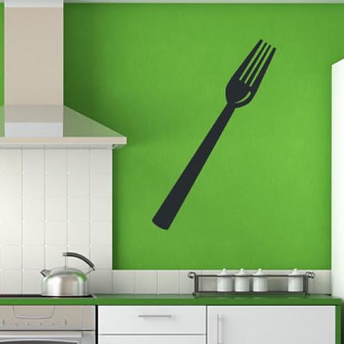 Fork Print Wall Sticker Kithcen Decor Wall Art