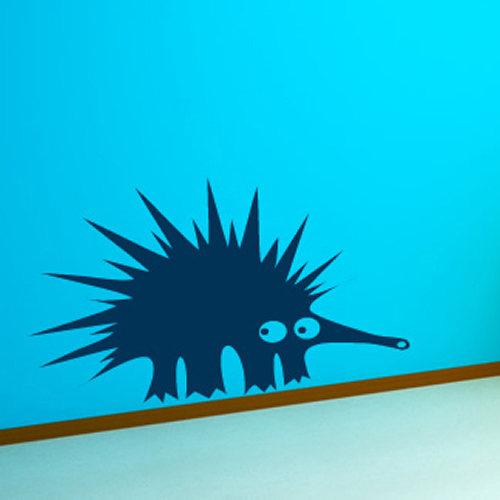 Porcupine Cartoon Childrens Funny Wild Animals Wall Sticker Home Decor Art Decal