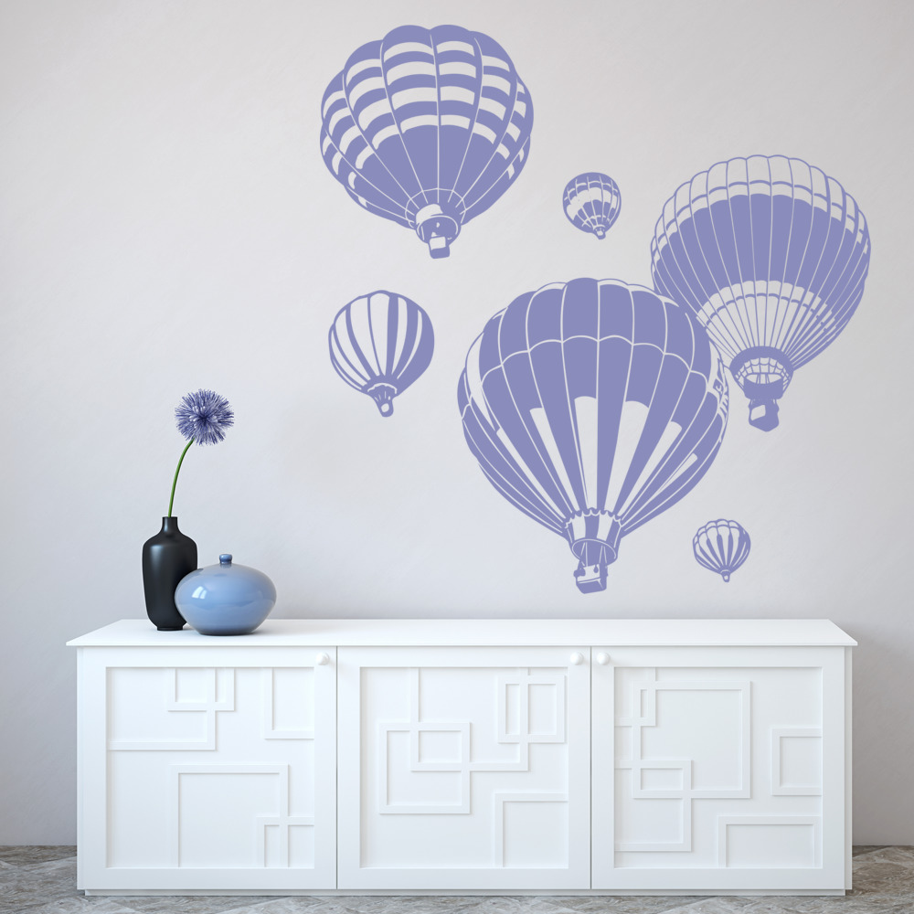 Hot Air Balloon Wall Sticker Transport Wall Decal Kids