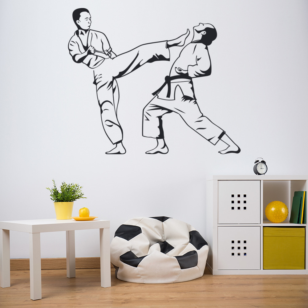 Karate Kick Judo Jiu Jitsu Extreme Sports & Fighting Wall Stickers Sport Decals