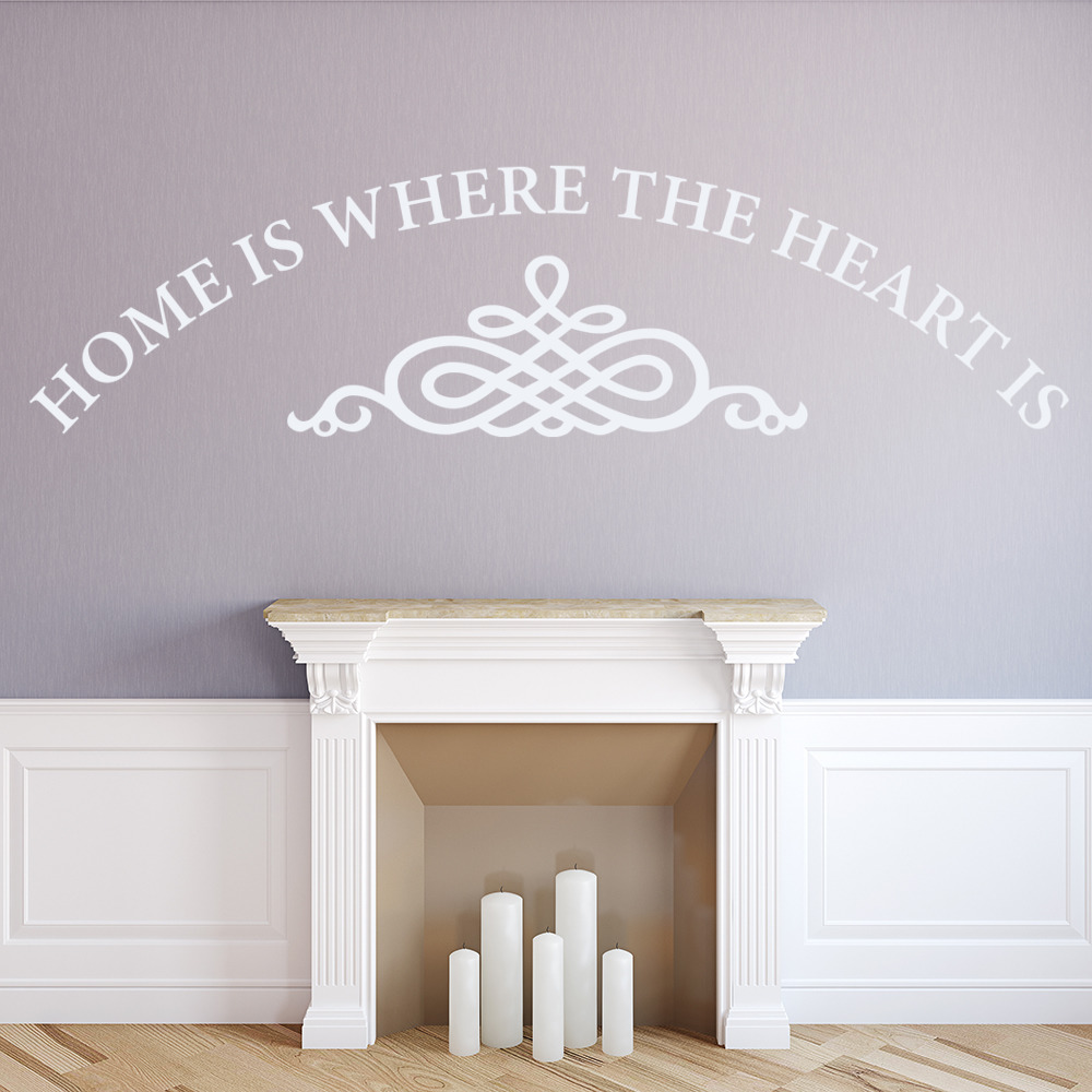 Home Is Where The Heart Is Wall Sticker Home Wall Art