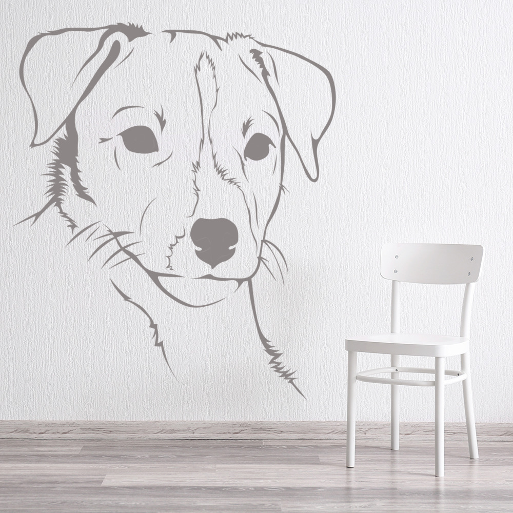 Jack Russell Face Close Up Canine Pet Dogs Wall Stickers Home Decor Art Decals