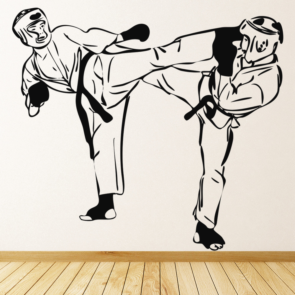 Martial Art Fighters Wall Stickers Martial Arts Wall Art