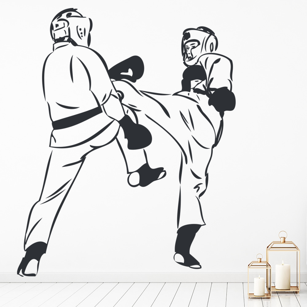 Martial Art Fighters Wall Sticker Martial Arts Wall Art