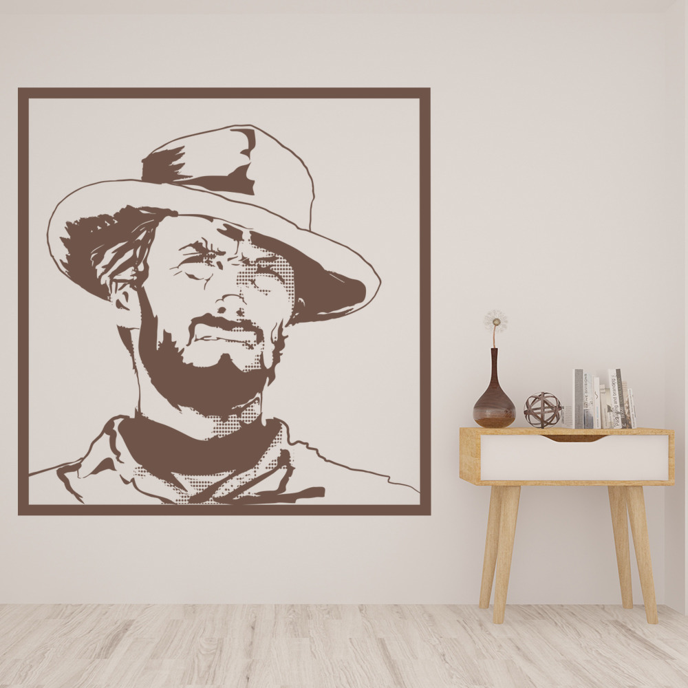 Clint Eastwood Wall Sticker Icon Wall Art