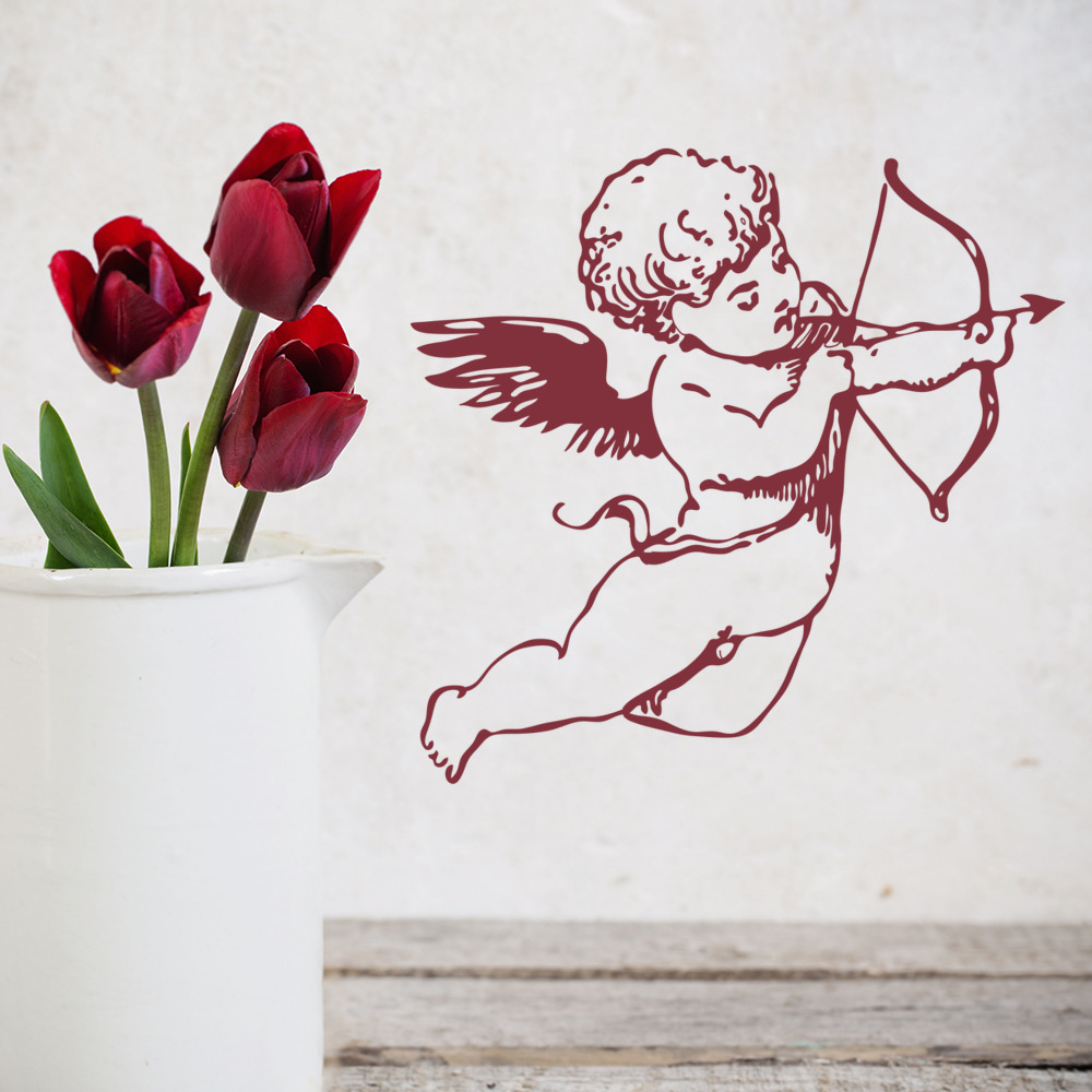Cherub Bow Wall Sticker Decorative Wall Art