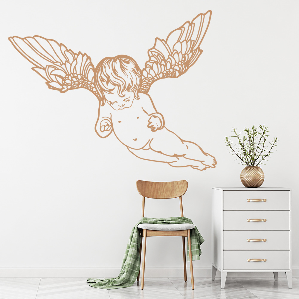 Flying Cherub Wall Sticker Decorative Wall Art
