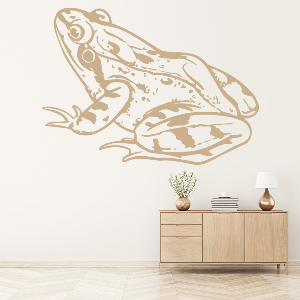 Toad Sitting Frog Amphibian Wild Animals Wall Stickers Home Decor Art Decals