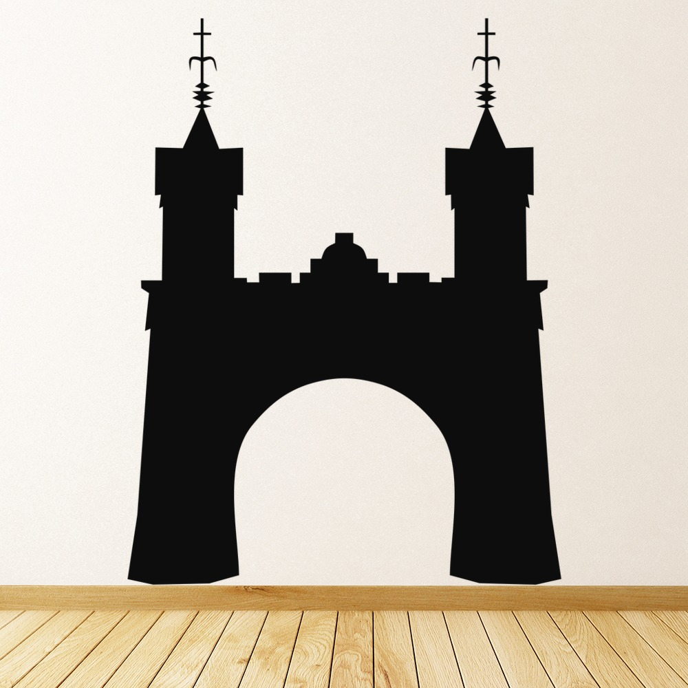 Castle Wall Stickers Halloween Wall Art