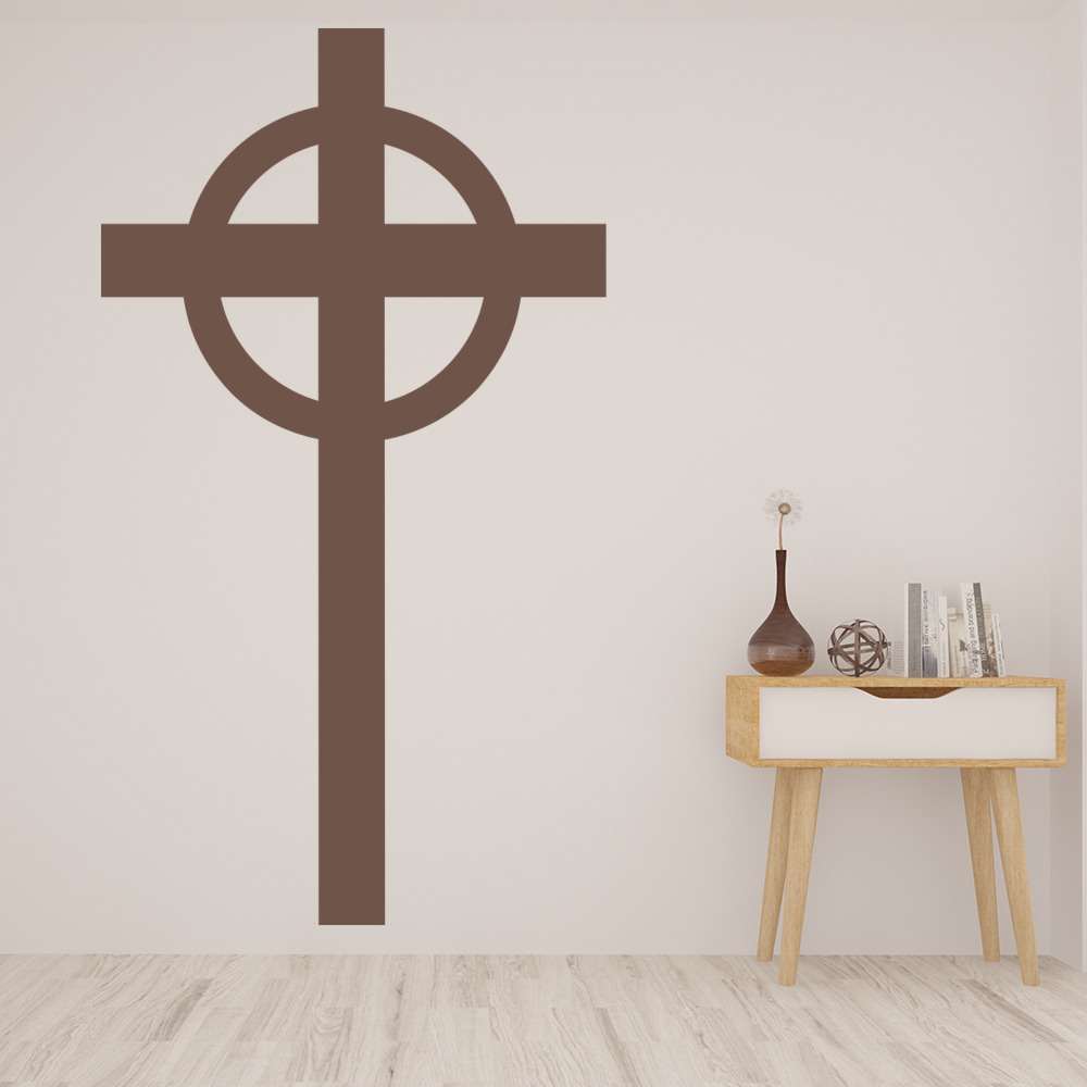Plain Cross Wall Sticker Religious Wall Art