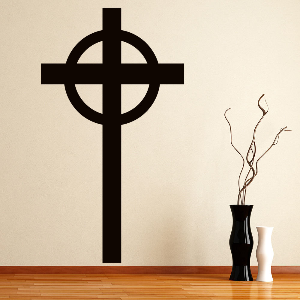 Plain Cross Silhouette Religion And Peace Wall Stickers Home Decor Art Decals