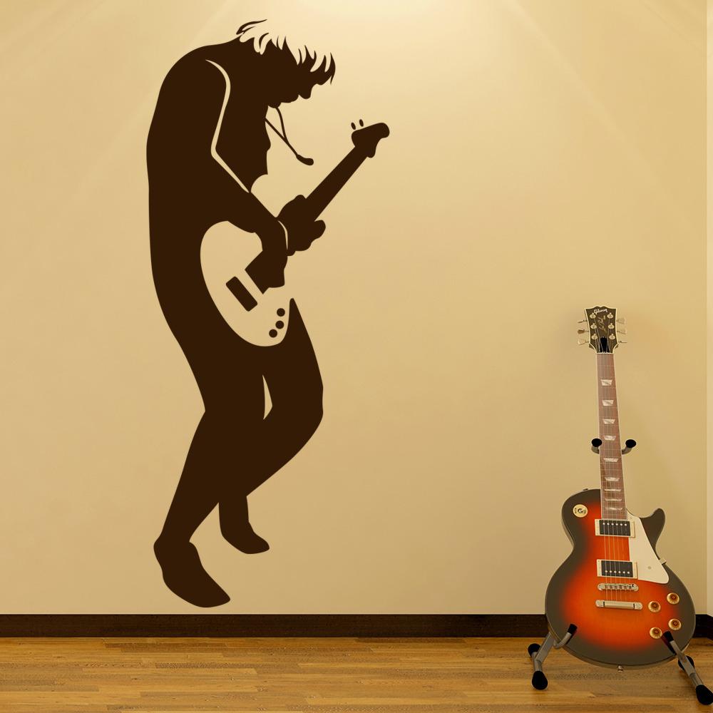Rock Guitarist Wall Stickers Music Wall Art
