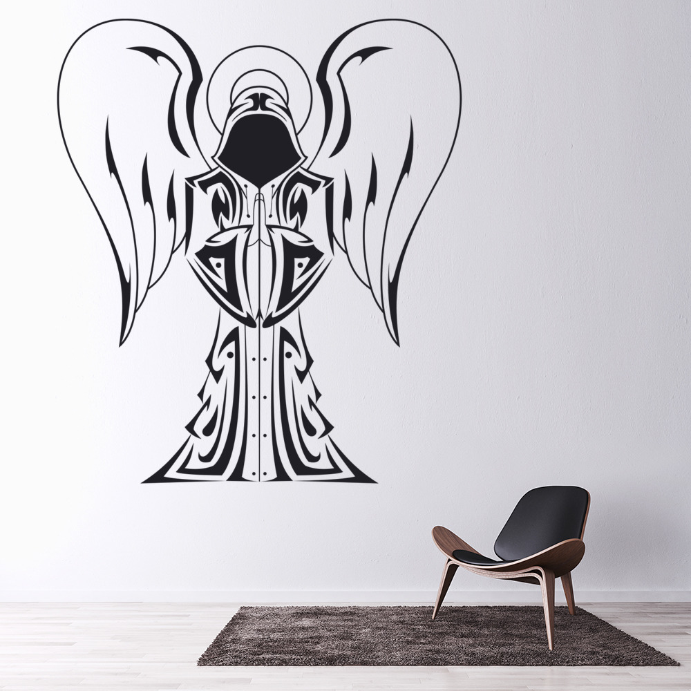 Hooded Angel Wall Sticker Angel Wall Art
