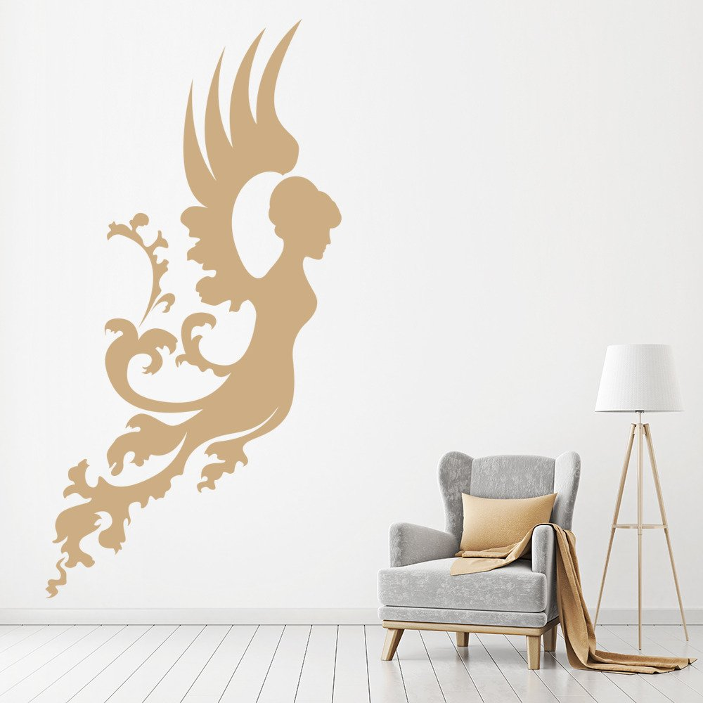 Floral Angel Wall Sticker Angel Wall Art
