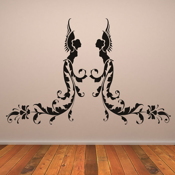 Floral Angels Wall Sticker Angel Wall Art