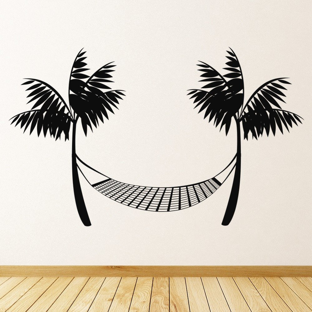 Beach Hammock Wall Sticker Beach Wall Art