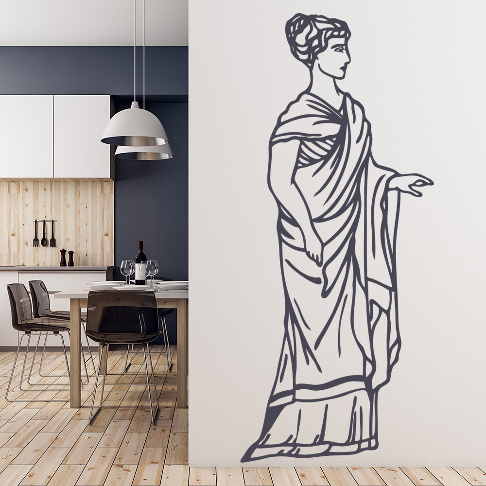 Greek Woman Grecian Lady In Robes Rest of the World Wall Sticker Home Art Decals