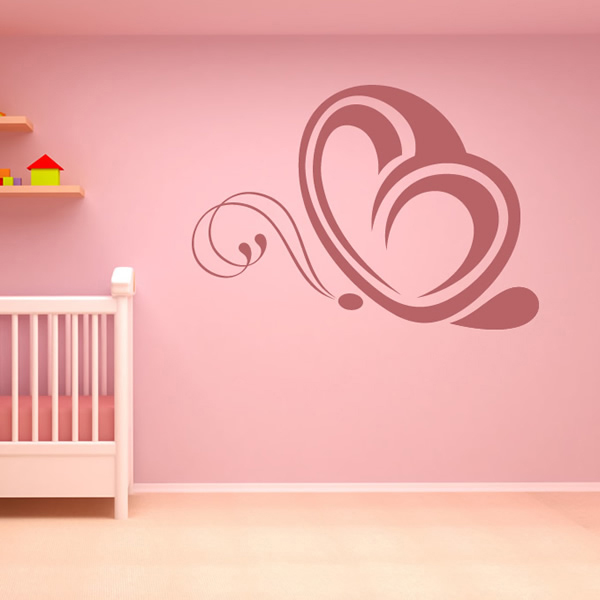 Elegant Butterfly Outline Wall Sticker Nature wall Art