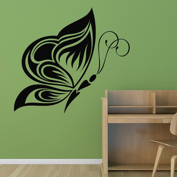 Nature Wall Decor Stickers : Elegant butterfly wall stickers nature art