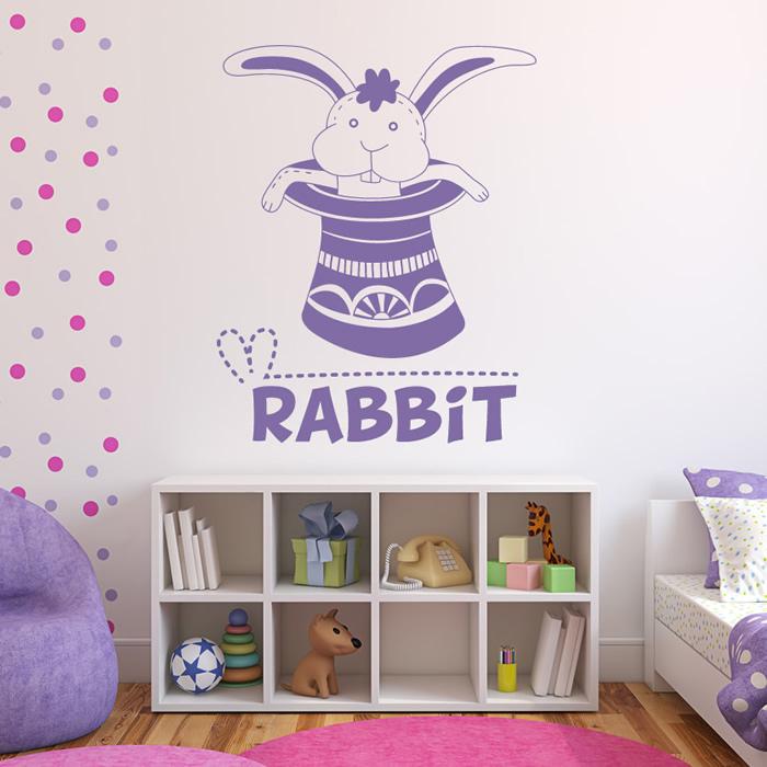 cartoon rabbit wall sticker children s wall art