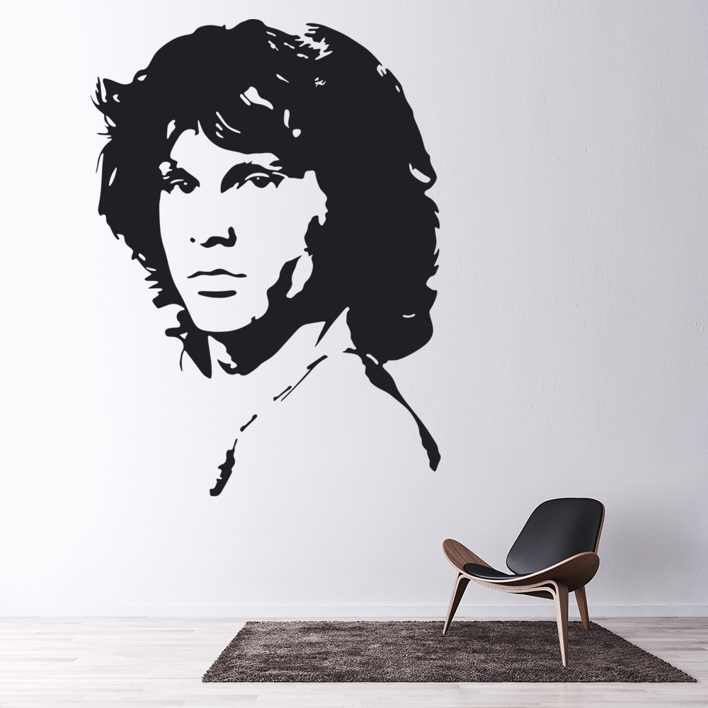Jim Morrison Wall Sticker Icon Wall Art