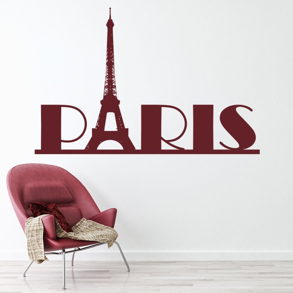 Paris Eiffel Tower France Rest of the World Wall Stickers Home Decor Art Decals