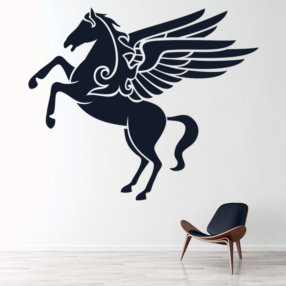 pegasus wall sticker unicorn wall art unicorn wall stickers for kids rooms wallstickery com