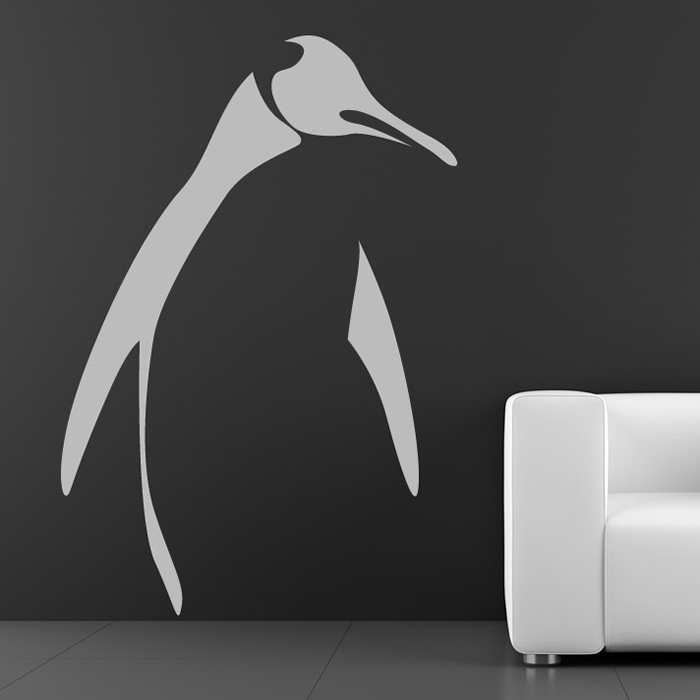 penguin outline wall sticker animal wall art penguin wall decals amp wall stickers zazzle