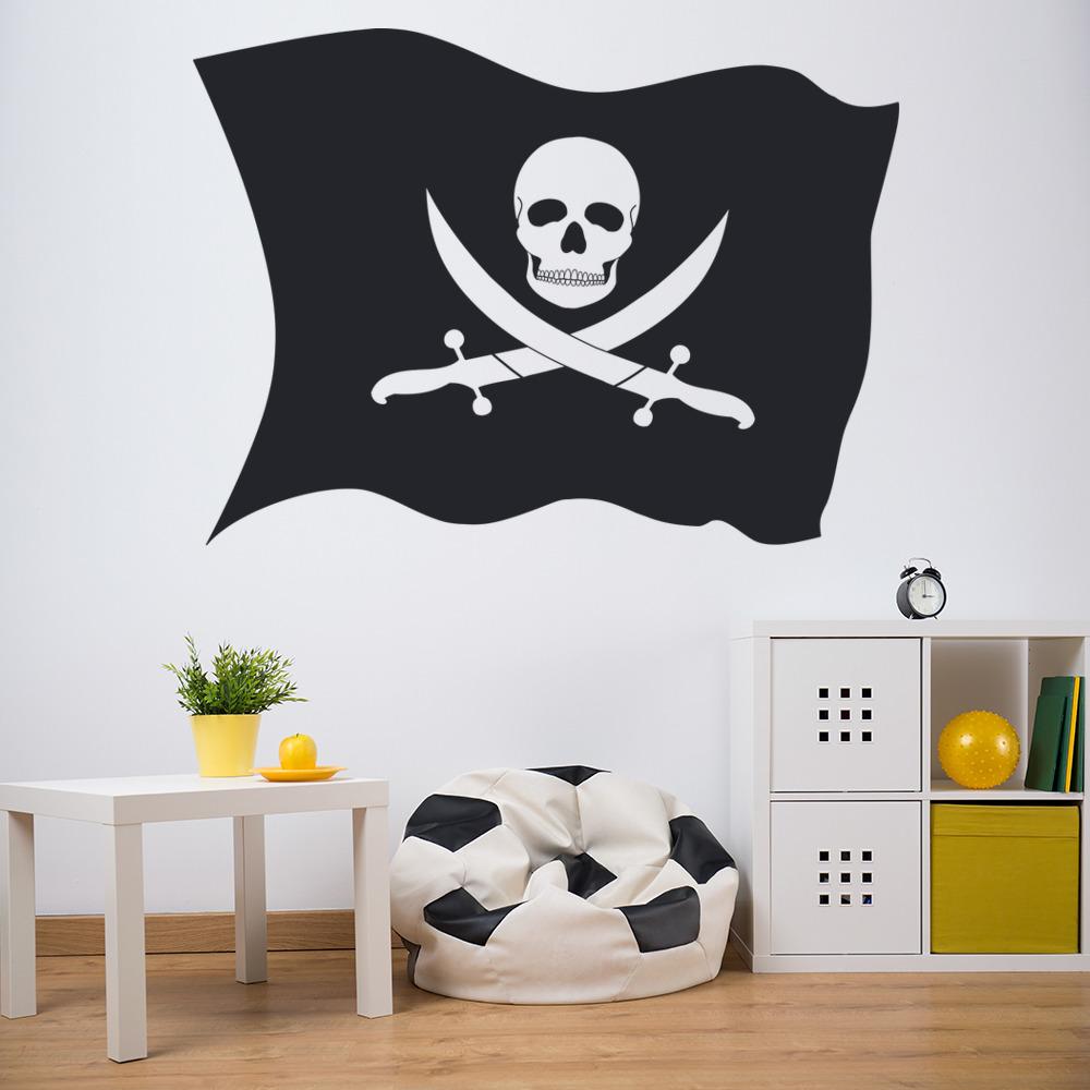 Pirates Kids Wall Decal: Pirate Flag Wall Sticker Children's Wall Art
