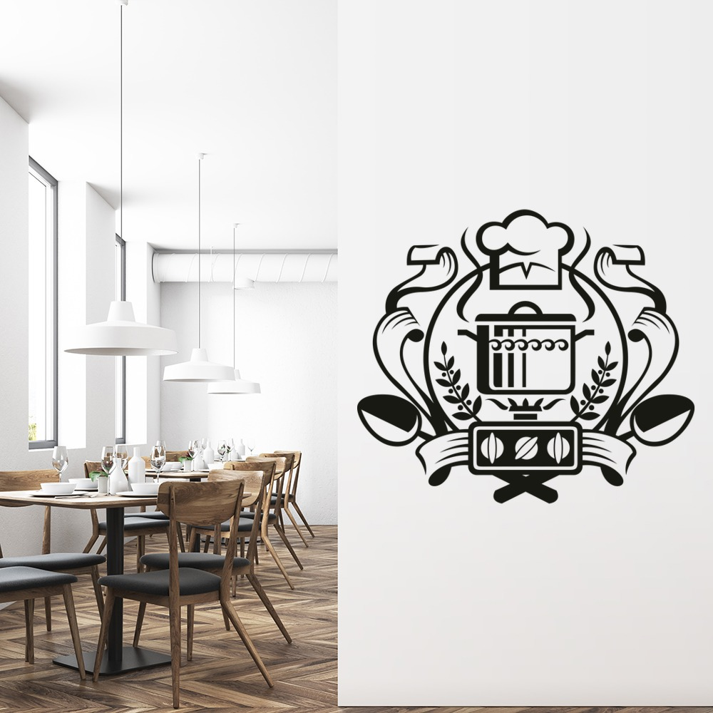Chef Badge Wall Sticker Kitchen Wall Art