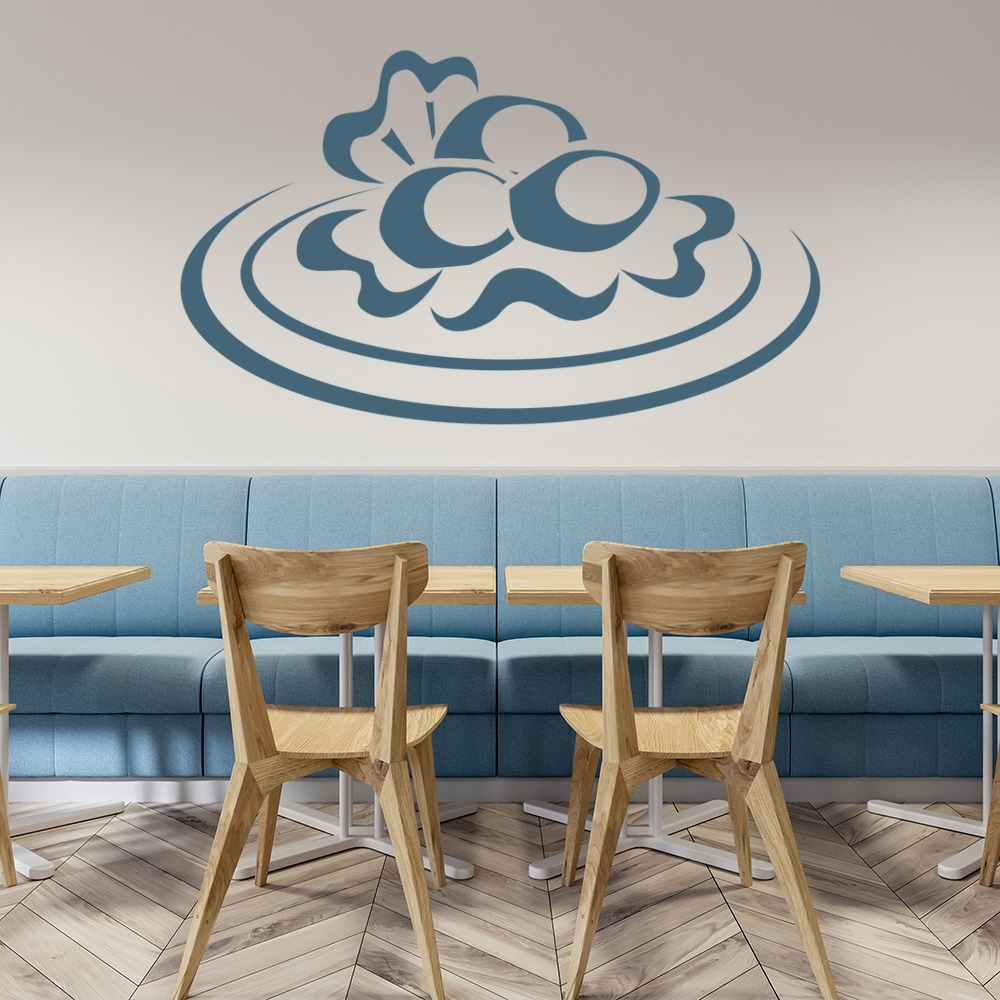 Plate Of Food Wall Sticker Food Wall Art