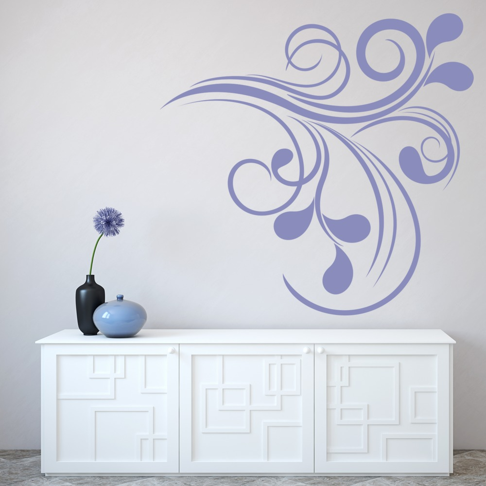 Floral Corner Wall Sticker Embellishment Wall Art