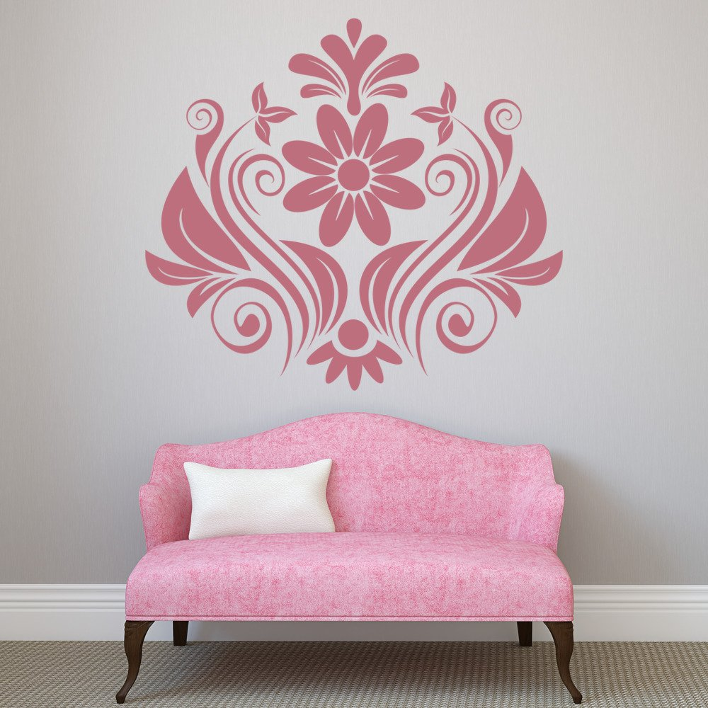 Floral Embellished Centrepiece Floral Design Wall Stickers Home Decor Art Decals