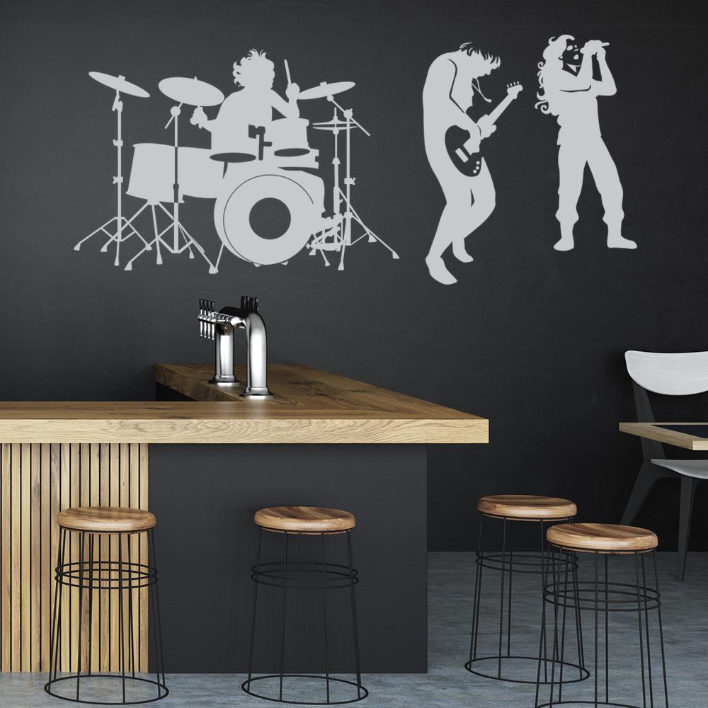 Rock Band Wall Sticker Music wall Art