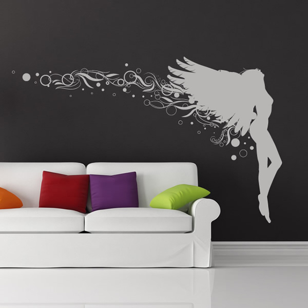 Spiral Angel Wall Sticker Angel Wall Art